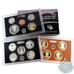 2013 United States mint silver proof 14-coin set with box and coa (some coins are lightly toned, and