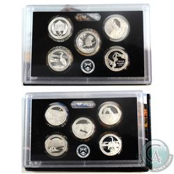 2014 & 2015 United States Mint 5-coin America the Beautiful set.  (some coins are lightly toned, and