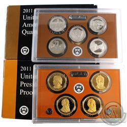 2011 United States Mint America the Beautiful Quarter Proof set & 2011 United States Mint Presidenti