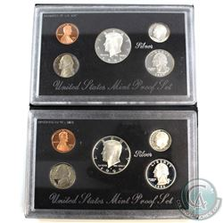 1994 & 1996  Silver United States Mint silver proof sets (toned). Some coins are lightly toned, and