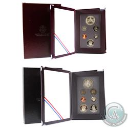 1988 & 1989 United States Prestige Proof coin sets. Coins contain natural toning and comes with all