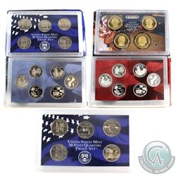 Estate lot of 5x  USA commemorative Statehood 25-cent & Presidential Dollar sets: 2x 2001 proof sets