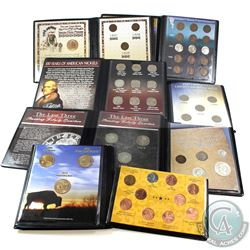"Estate lot of 8x United states first commemorative mint  coin sets: 1907, 1908 & 1909 ""the last thre"