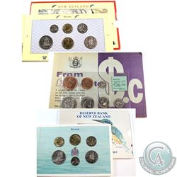 New Zealand Mint Issue: Lot of 3x New Zealand Brilliant Uncirculated Coin Sets. You will receive 199