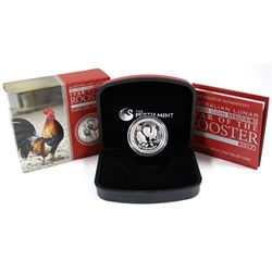 Perth Mint Issue: 2017 Australia $1 Year of the Rooster High Relief 1oz Silver Coin (No Tax)