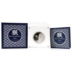 New Zealand Mint Issue: 2016 Niue $2 Lunar Year of the Monkey 1oz. Silver Coin (Tax Exempt)