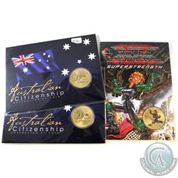 Perth Mint Issue: Lot of 3x Australian $1 Aluminum Bronze Coins. You will receive, 2014 Young Collec