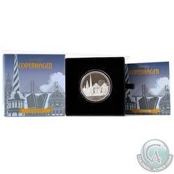 New Zealand Mint Issue: 2017 Niue $2 Great Cities - Copenhagen 1oz. Fine Silver Coin (Tax Exempt)