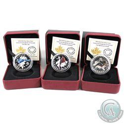 2015 Canada $10 Colourful Songbirds of Canada  Fine Silver coins: 2015 The blue Jay,  The Cardinal