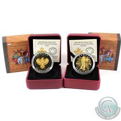 2014 Canada $20 Seven Sacred Teachings Honesty  & Love Fine Silver coins. Capsules contain light scu