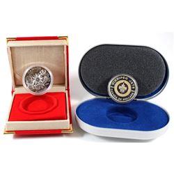 2007 Canada $20 International Polar Year Sterling Silver Coin in Red Lunar Felt Display Box & 2011 $
