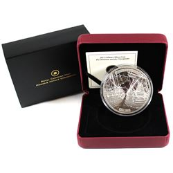 2013 Canada $50 HMS Shannon & USS Chesapeake 5oz. Silver Coin. (Coin lightly toned, capsule scratche