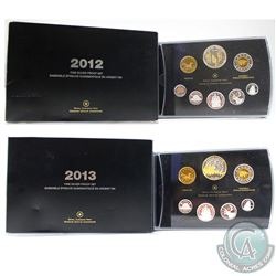 2012 War of 1912 & 2013 Arctic Expedition Canada Fine Silver Proof Sets (Tax Exempt). Please note 20