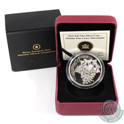 2010 Canada $20 Moonlight Crystal Pinecone Fine Silver Coin (outer sleeve is bent). Tax Exempt