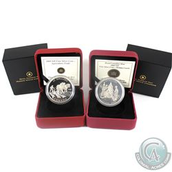 2008 Canada $20 Agriculture Trade & 2008 $20 Holiday Carols Fine Silver Coins. (Holiday carols capsu