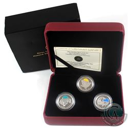 2011 Canada 25-cent Parks Canada - Our Legendary Nature 3-coin Sterling Silver Set. (COA and sleeve