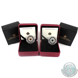 2011 Canada $3 Birthstone Fine Silver Collection - May & November. 2pcs (TAX Exempt)