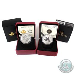 2013 & 2014 Canada $10 Maple Leaf Fine Silver Coins. 2pcs (TAX Exempt)