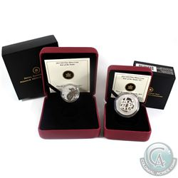 2013 Canada $20 Year of the Snake & 2013 $10 Year of the Snake (Chinese Character) Fine Silver Coins