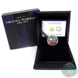 2017 Canada $25 35th Anniversary of Trivial Pursuit Fine Silver Coin. (TAX Exempt)