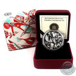 2013 $20 Canadian Contemporary Art - Carlito Dalceggio Fine Silver Coin. (TAX Exempt)