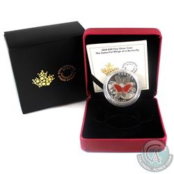 2016 Canada $20 The Colourful Wings of a Butterfly Fine Silver Coin. (TAX Exempt)