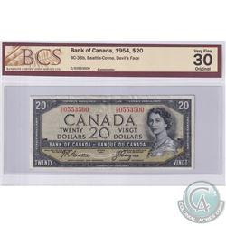 1954 $20 BC-33b, Beattie-Coyne, Devil's Face, S/N: D/E0553500, BCS Certified VF-30 Original