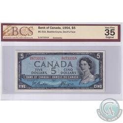 1954 $5 BC-31b, Beattie-Coyne, Devil's Face, S/N: D/C6733318, BCS Certified VF-35 Original