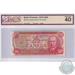 1975 $50 BC-51a, Lawson-Bouey, S/N: HD1477531, BCS Certified EF-40 (Graffiti)