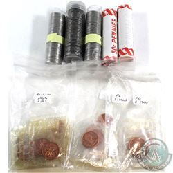 *Estate lot of Canada 1-cent & 5-cent Rolls/coins. Lot includes: 2x 2008 Canada 1-cent Rolls, 2x 200