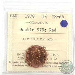 1979  Double 979 Canada 1-cent ICCS Certified MS-66