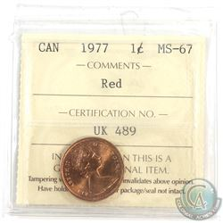 1977 Canada 1-cent ICCS Certified MS-67