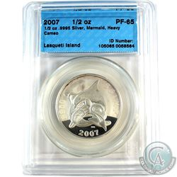 2007 Lasqueti Island 1/2oz Mermaid CCCS Certified PF-65 Heavy Cameo (Tax Exempt)