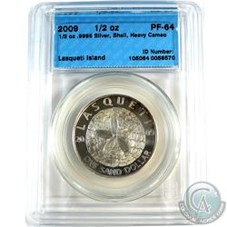 2009 Lasqueti Island 1/2oz Sand Dollar Shell CCCS Certified PF-64 Heavy Cameo (Tax Exempt)