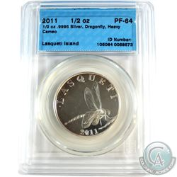 2011 Lasqueti Island 1/2oz Dragonfly CCCS Certified PF-64 Heavy Cameo (Tax Exempt)
