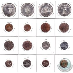 1859-1967 Canada Coin Collection.  You will receive the following, 1859 1-cent, 1882 1-cent, 1910 1-
