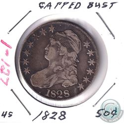 1828 United States Capped Bust 50-cent.