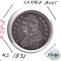 1831 United States Capped Bust 50-cent.