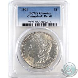 1901 United States $1 PCGS Certified Genuine AU-Detail - Cleaned.