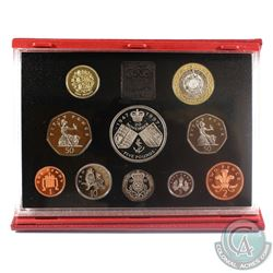 1997 United Kingdom Deluxe 10-Coin Proof Set in Original Packaging.