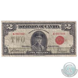 1923 Dominion of Canada  $2, Serial: N/997966, VG.