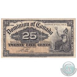 1900 Dominion of Canada 25ct Boville Note.