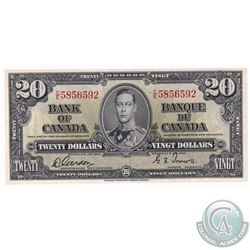 1937 Bank of Canada $20, Gordon-Towers, C/E Prefix, 5856592 UNC+.