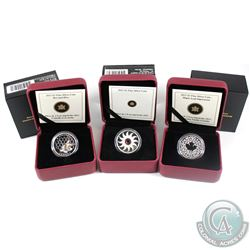 2011-2013 Canada $3 Fine Silver Coins - 2011 February Birthstone, 2013 Bee and Hive & 2013 Maple Lea