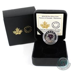 2014 $5 Flowers in Canada - Poinsettia Fine Silver & Niobium Coin (Sleeve lightly bent). (TAX Exempt