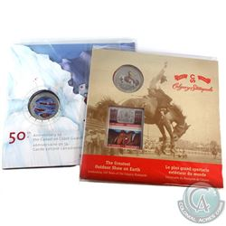 2012 Canada 25-cent Calgary Stampede & Canadian Coast Guard Set. 2pcs