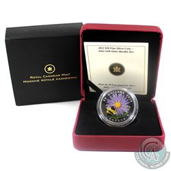 2012 Canada $20 Aster with Venetian Glass Bumble Bee Fine Silver Coin (Tax exempt)