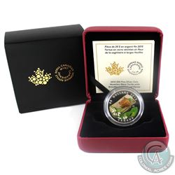2015 Canada $20 Venetian Glass Turtle & Broadleaf Flower Fine Silver Coin (TAX Exempt)