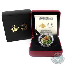 2015 Canada $20 Venetian Glass Turtle & Broadleaf Flower Fine Silver Coin (TAX Exempt)