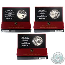 2005-2006 Canada $20 National Parks Fine Silver Coin Collection (Tax Exempt)  You will receive the 2